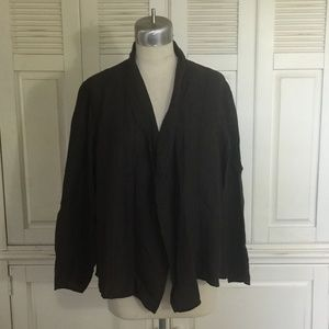 Eileen Fisher Open Front Unstructured Jacket 2X